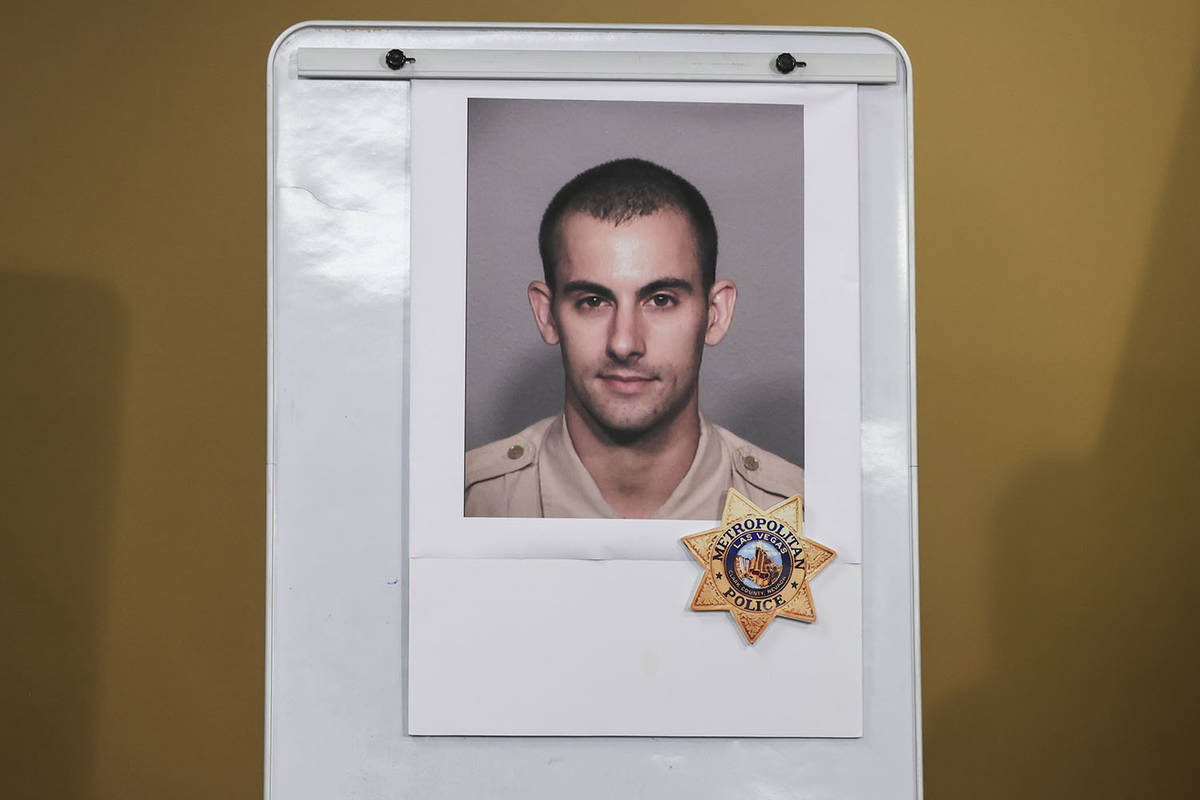 A photo of police officer Shay K. Mikalonis, who was shot and is in critical condition followin ...
