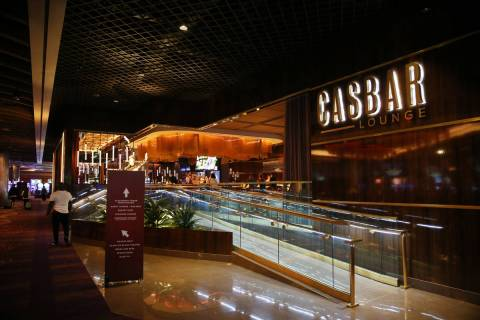 The recently opened Casbar Lounge at Sahara Las Vegas hotel-casino in Las Vegas, Thursday, Aug. ...