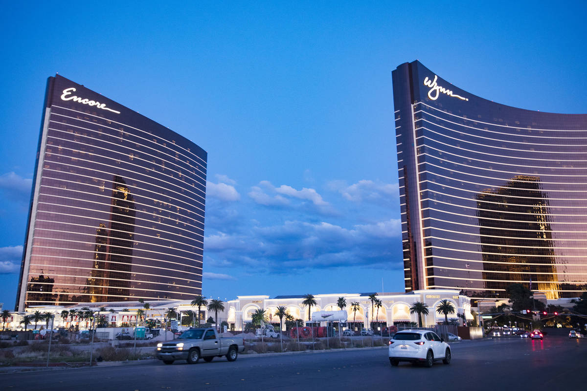 Encore and Wynn in Las Vegas on the Las Vegas Strip. (Rachel Aston/Las Vegas Review-Journal) @r ...