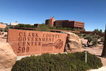 Clark County Government Center in Las Vegas (Las Vegas Review-Journal/File)