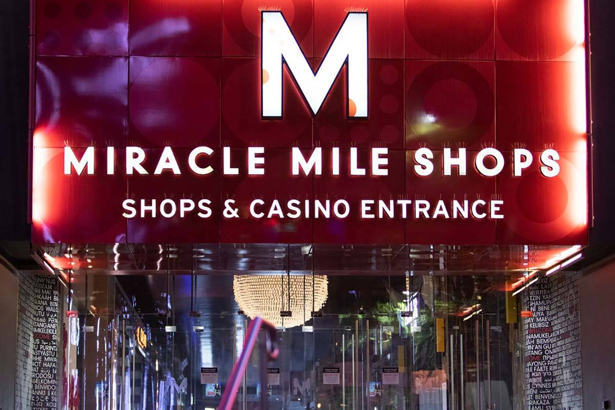 The Miracle Mile Shops, within Planet Hollywood Resort, is closed amid coronavirus nonessential ...