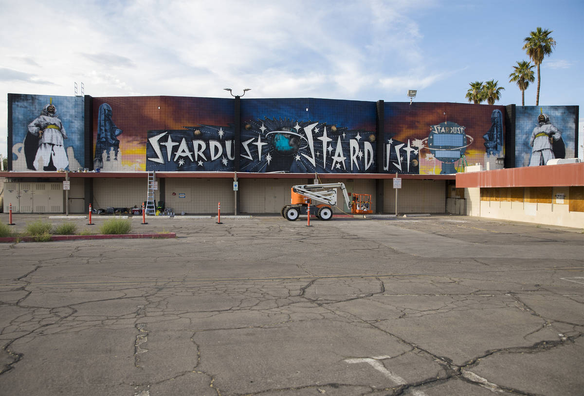 """The new mural in progress, """"From the Land Beyond Beyond,"""" by artist James Stanfor ..."""