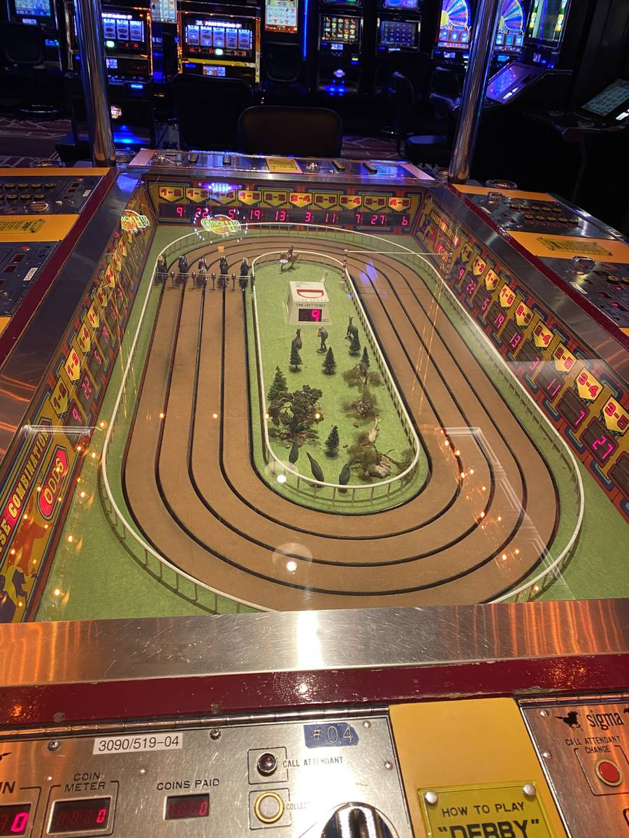 The D Las Vegas Sigma Derby automated betting game is shown on Wednesday, June 3, 2020. (John K ...