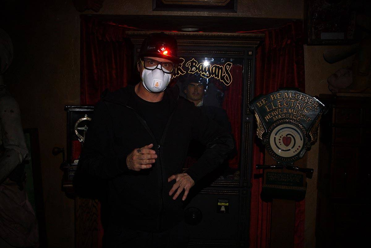"Zak Bagans wears a mask during the production of ""Ghost Adventures: Quarantine."" (Travel Channel)"