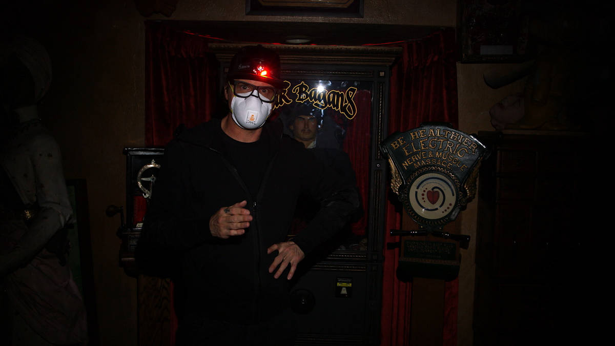 """Zak Bagans wears a mask during the production of """"Ghost Adventures: Quarantine."""" (Travel Channel)"""