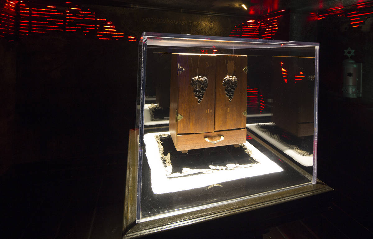 The Dybbuk Box, which is said to be worldÕs most haunted object, on display at Zak Bagans' ...