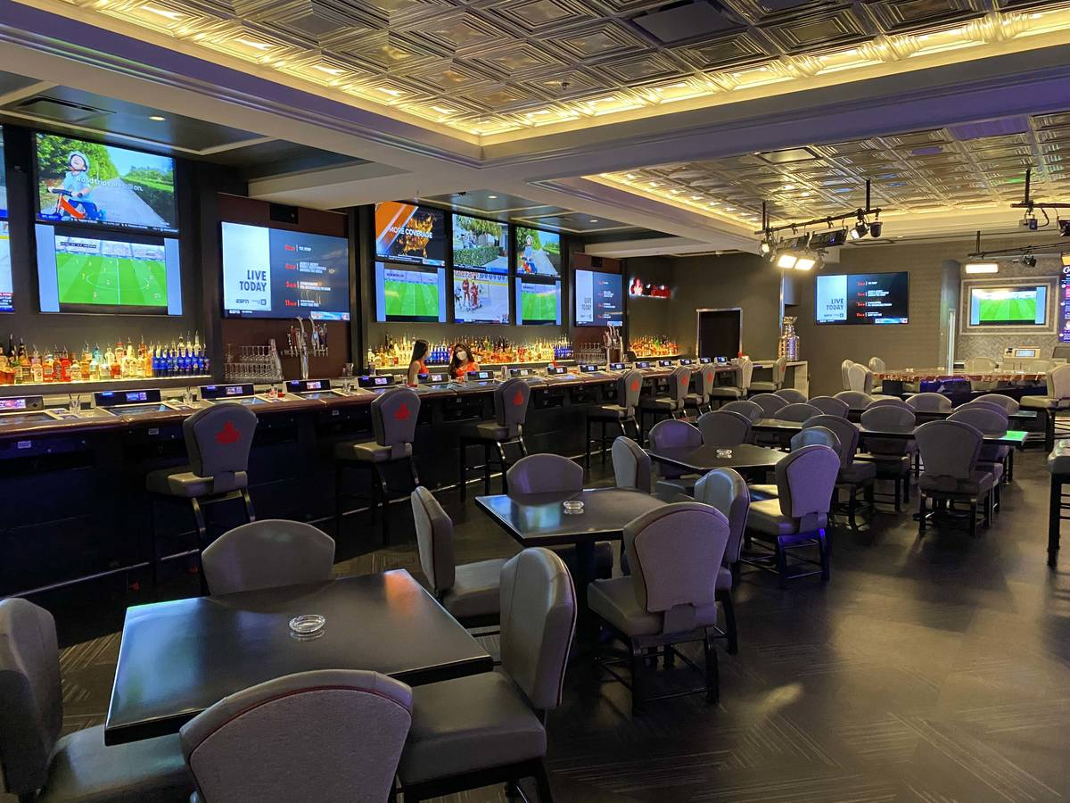 An empty BarCanada at the D Las Vegas on Thursday, June 4, 2020. (Al Mancini/Las Vegas Review-J ...