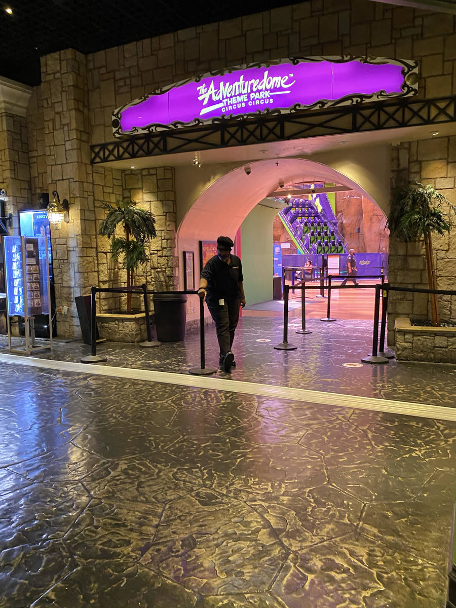 The busiest area of Circus Circus resort Thursday was likely the Adventuredome, although only a ...