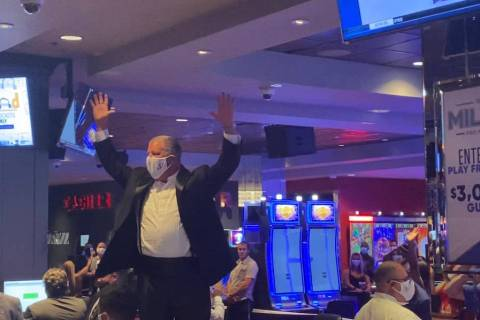 The D Las Vegas co-owner Derek Stevens counts down to the hotel's reopening 12:01 a.m. Wednesda ...