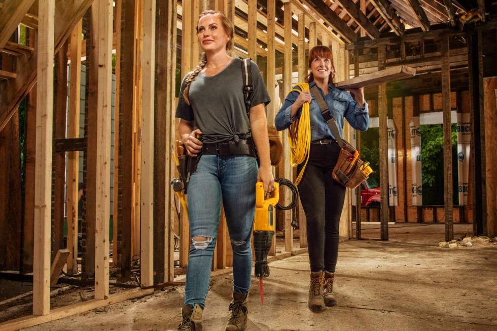 "Mother-daughter home renovation duo Karen E Laine and Mina Starsiak star in HGTV's ""Good B ..."