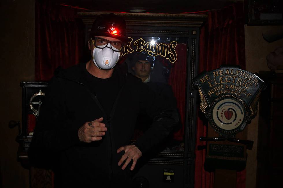 """Zak Bagans wears a mask during the production of """"Ghost Adventures: Quarantine."""" (Tra ..."""