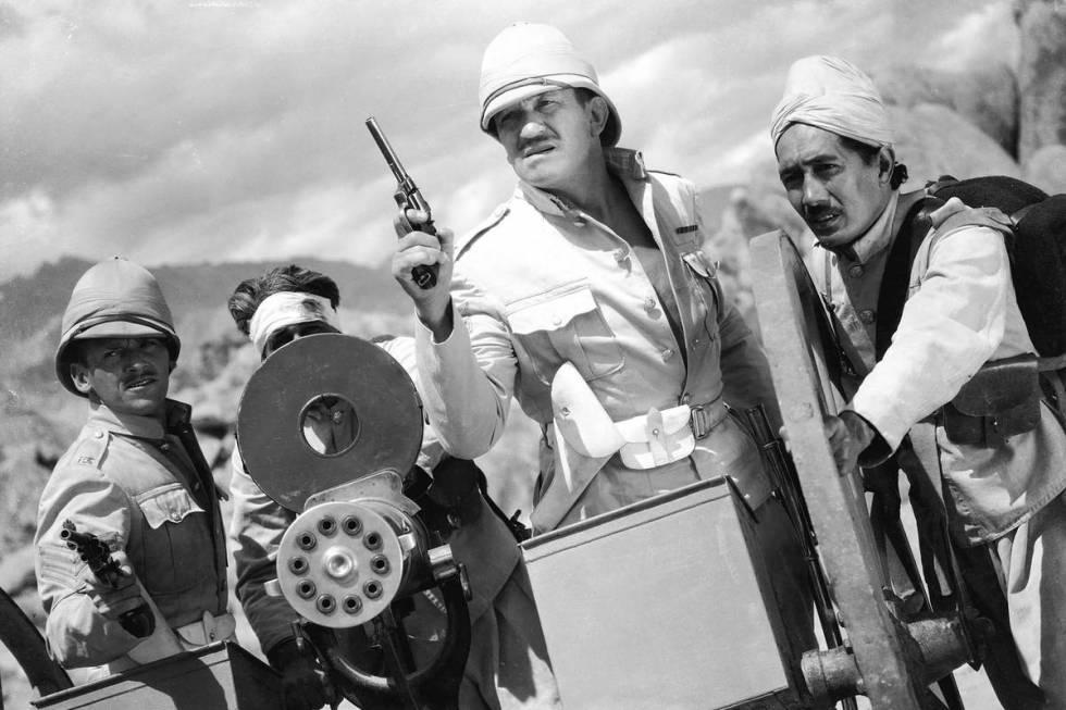 "Douglas Fairbanks Jr. and Victor McLaglen in 1939's ""Gunga Din."" (RKO Pictures)"