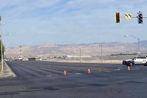An injury crash closed Sunset Road, near Flamingo Road, in both directions, Friday, June 5, 202 ...