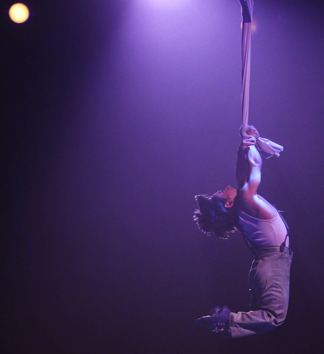 """Alan Jones Silva performs during a dress rehearsal of Cirque du Soleil's """"One Night for One Dro ..."""