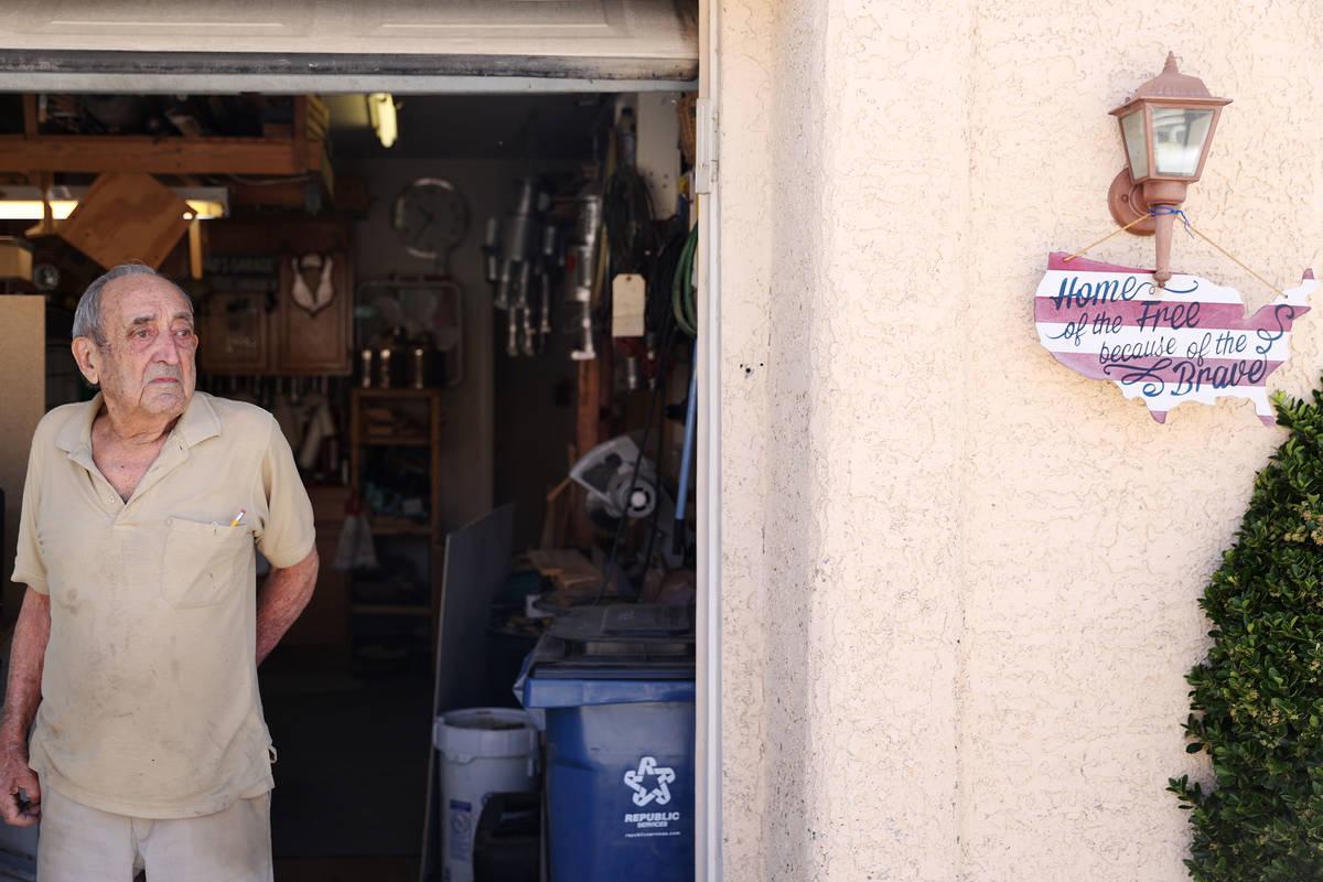 "Onofrio ""No-No"" Zicari, 97,a World War II veteran, at his home in Las Vegas, Friday, ..."