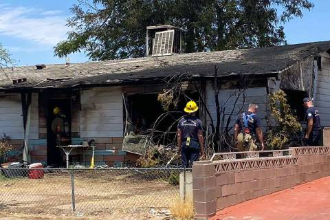 Three people were injured, one seriously, in a house fire on Leonard Avenue Friday morning in L ...