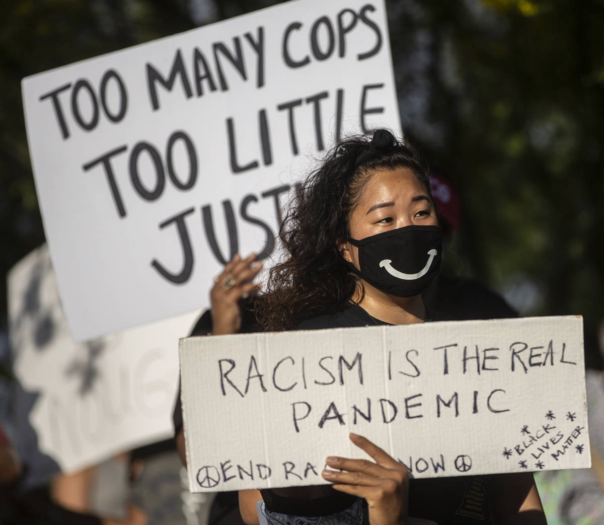 Thousands of people showed up at a Black Lives Matter event at Kianga Isoke Palacio Park on Fri ...