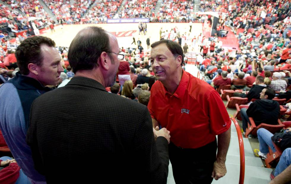 K.M. CANNON/LAS VEGAS REVIEW-JOURNAL New UNLV Athletic Director Jim Livengood Weber State shak ...