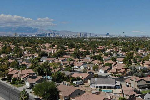 Las Vegas house sales dropped last month amid the pandemic-sparked economic shutdown, but price ...
