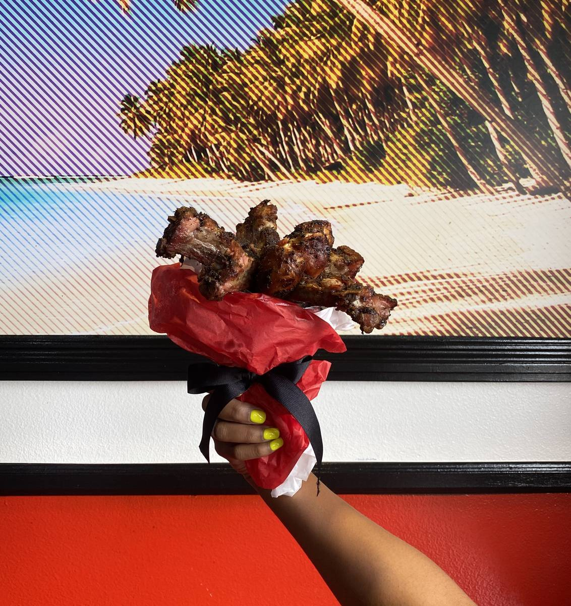 Big Jerk Caribbean is offering a chicken and rib bouquet for Father's Day. (Big Jerk Caribbean)