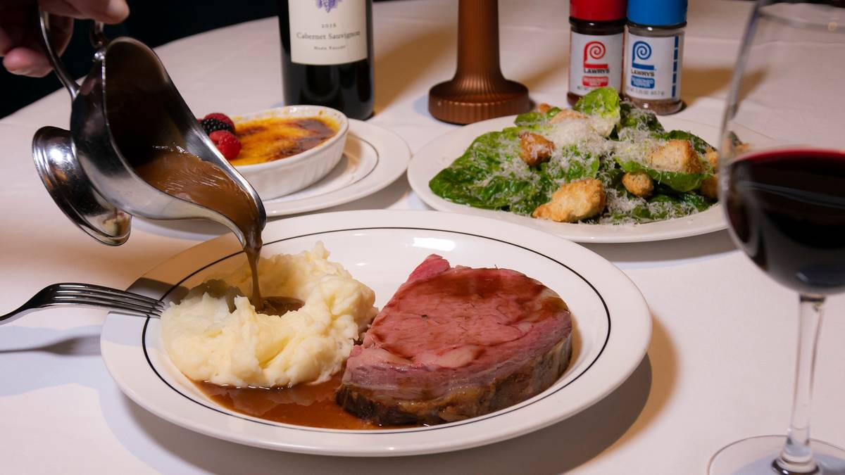 Lawry's the Prime Rib is one of several valley restaurants offering grill packages for Father's ...
