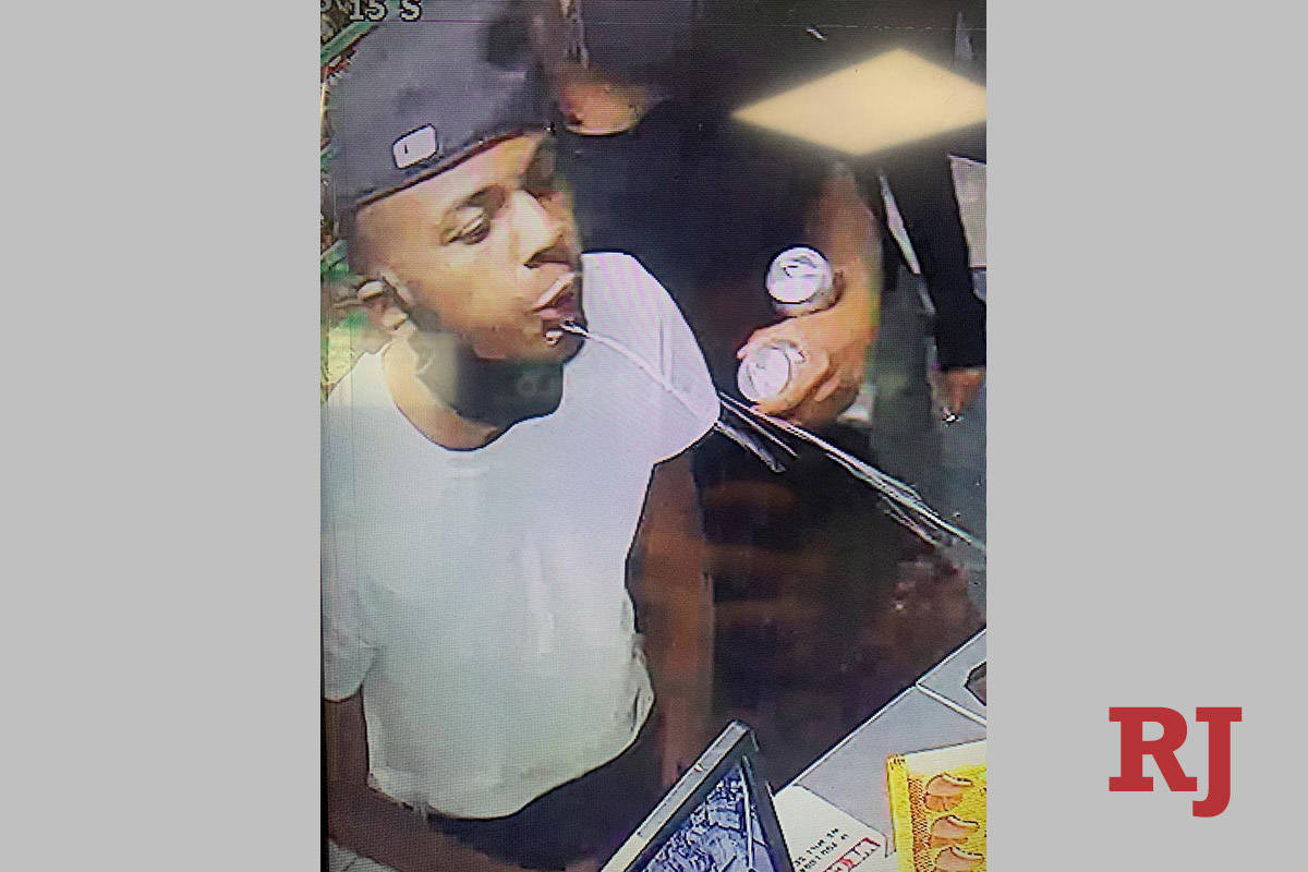 A suspect in the June 1, 2020, armed robbery near East Twain Avenue and University Center Drive ...