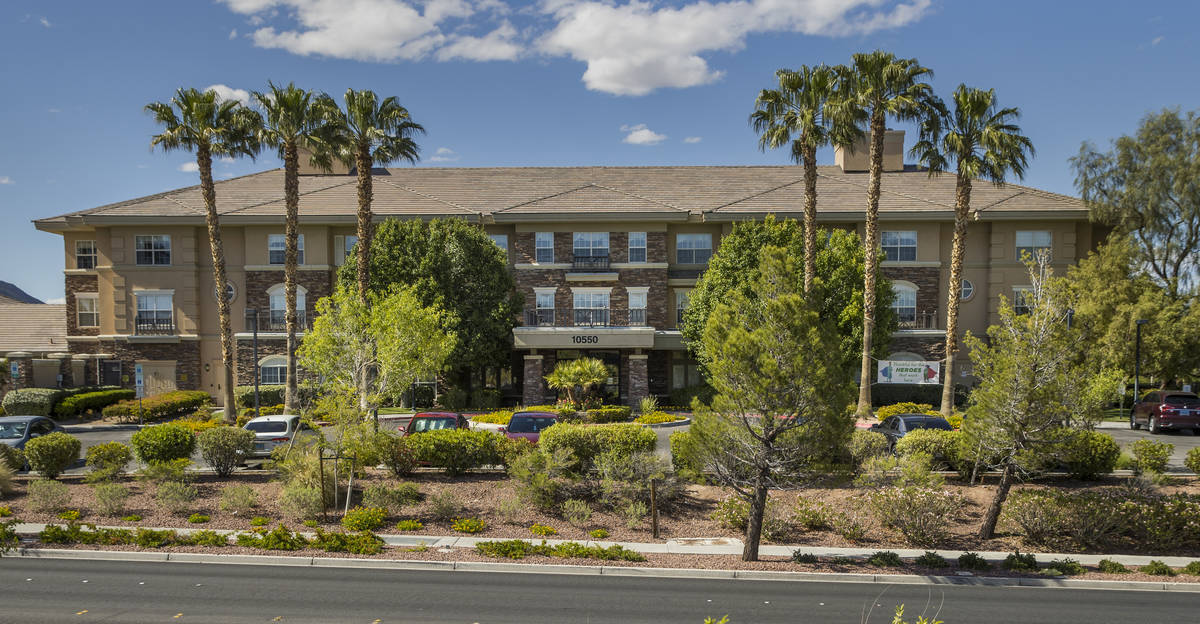 The Heights of Summerlin exterior where there have been numerous resident deaths due to COVID-1 ...