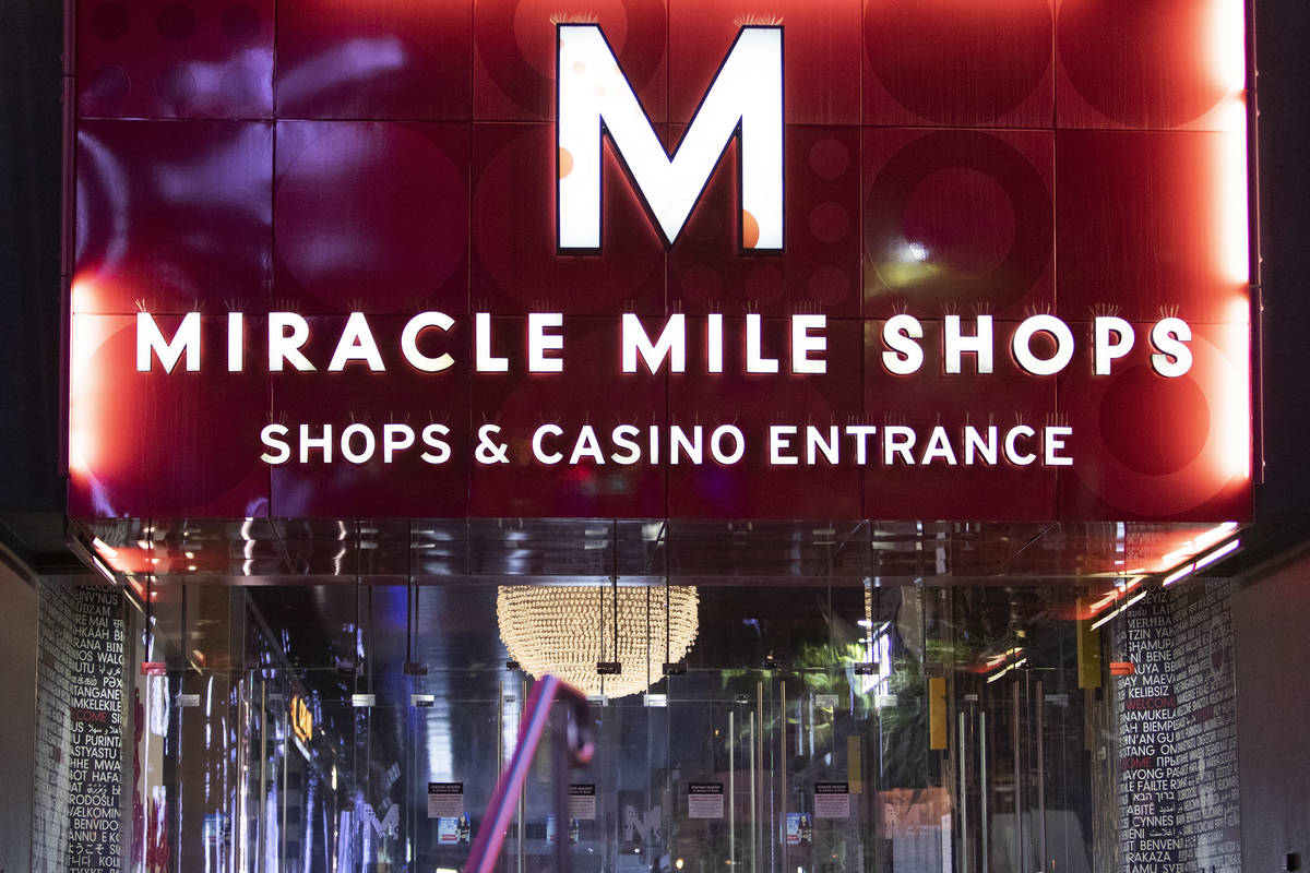The Miracle Mile Shops, within Planet Hollywood Resort, shown on Wednesday, April 8, 2020, in L ...