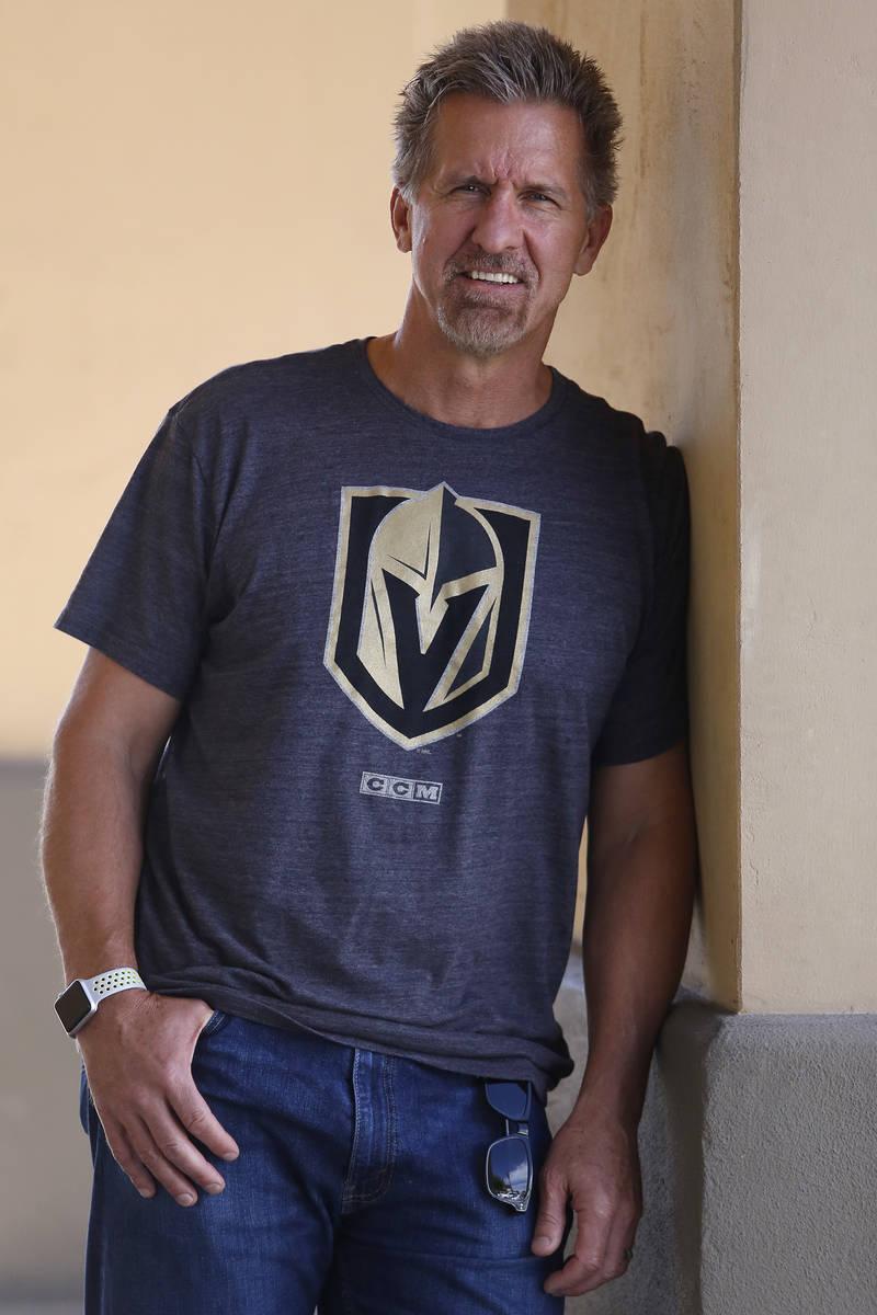 Former Las Vegas pro hockey player Rod Buskas on Tuesday, April 25, 2017, in Henderson. Christi ...