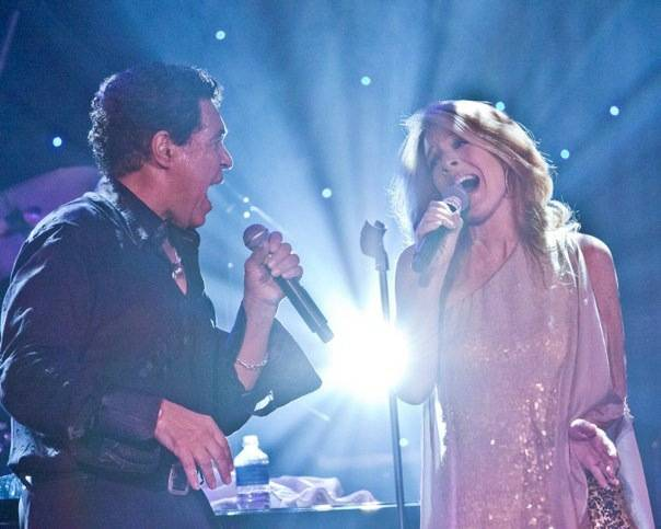"""""""Between the Lines"""" by Clint Holmes, singing here with wife Kelly Clinton-Holmes, on Monday ..."""
