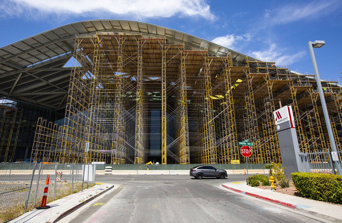 Construction continues on the Las Vegas Convention Center expansion in Las Vegas on Thursday, A ...