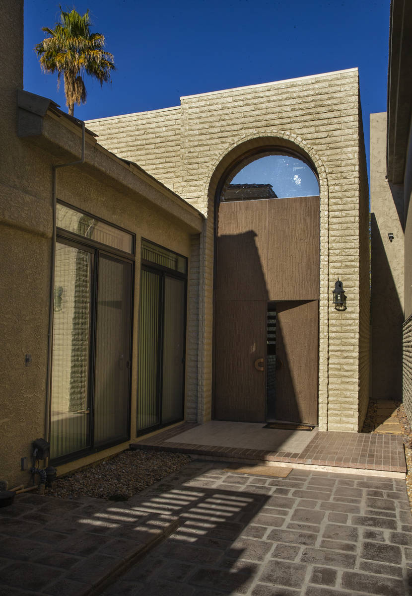 The metal front doors to keep the property secure during a tour of Lefty Rosenthal's former hom ...