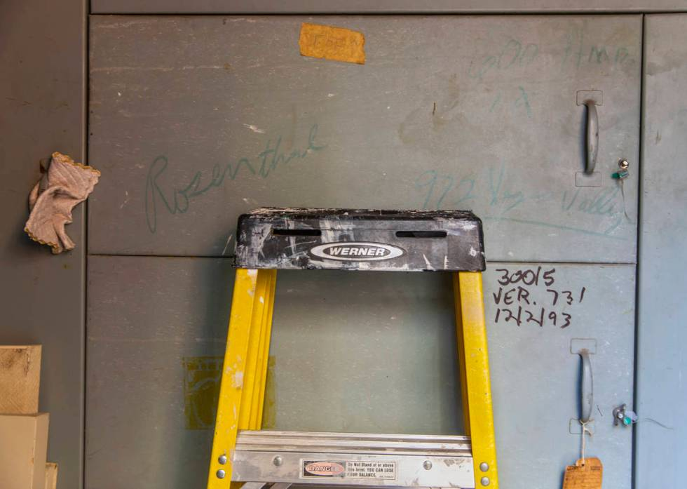 The large fuse box to support all the extra electrical lines during a tour of Lefty Rosenthal's ...