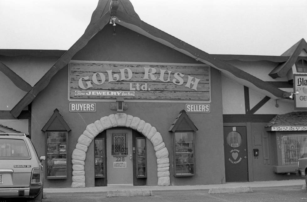 The Gold Rush Limited, a jewelry store at 228 West Sahara Avenue, allegedly used by Anthony Spi ...