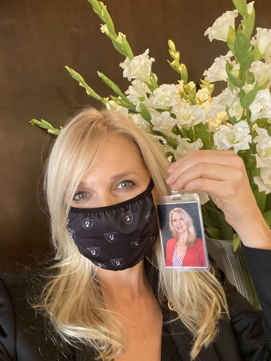 Westgate Las Vegas General Manager Cami Christensen, masked and ready for the hotel's reopening ...