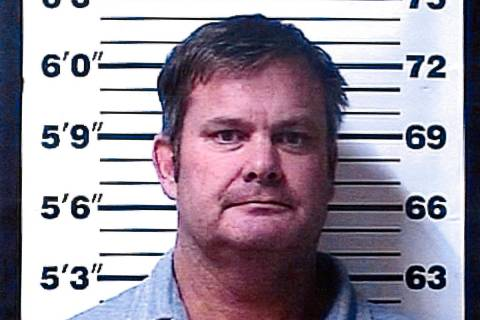 A booking photo provided by the Rexburg (Idaho) Police Department shows Chad Daybell, who was a ...
