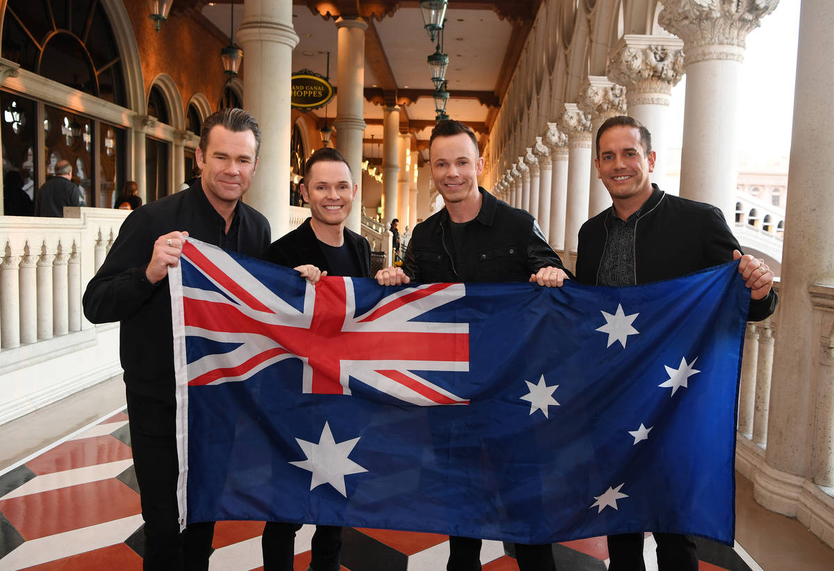 Members of Human Nature, from left, Phil Burton, Mike Tierney, Andrew Tierney and Toby Allen ar ...