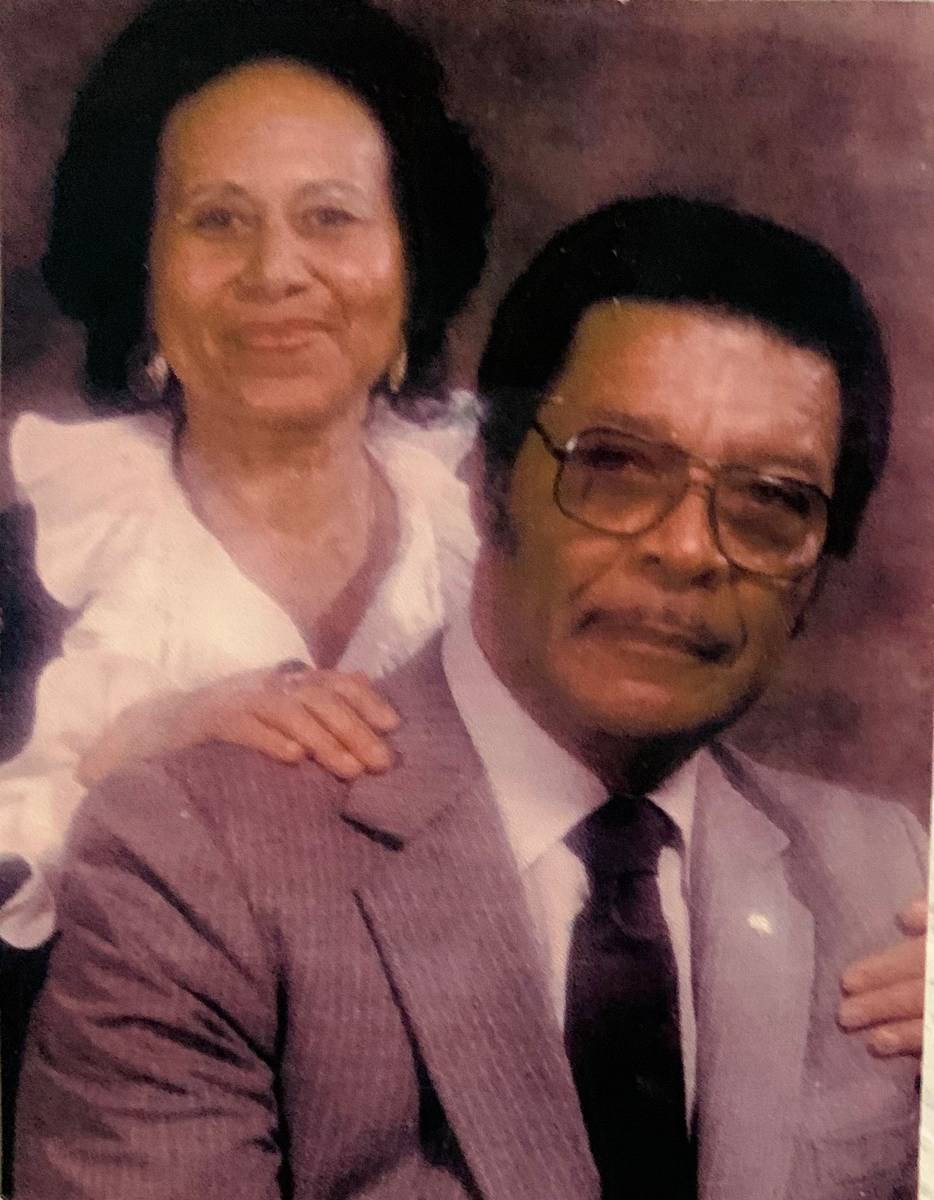 Edward and Betty Brown, grandparents of Julian Strawther, a former Liberty High School basketba ...
