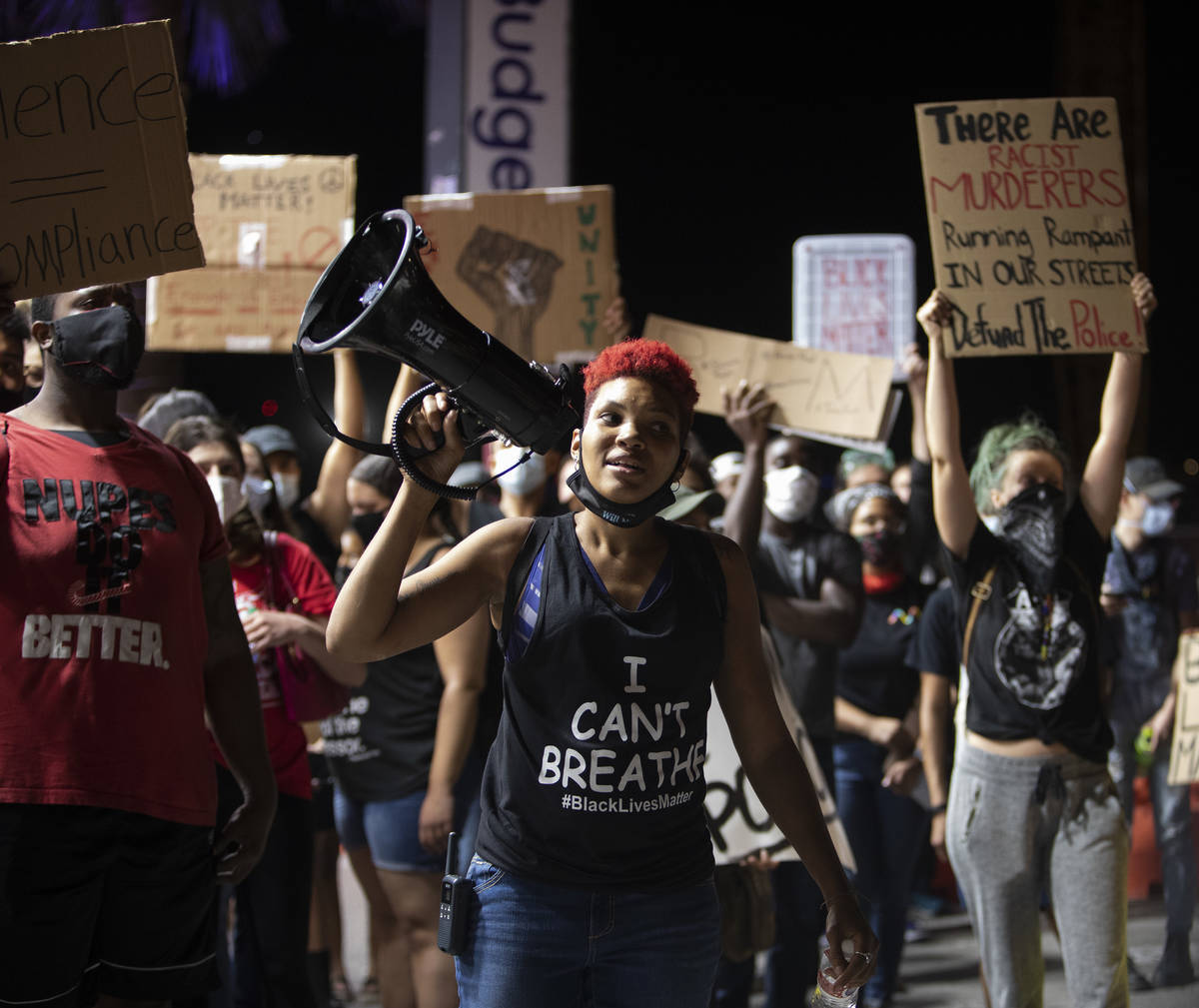Zyera Dorsey, a local organizer who took control of the march against police brutality when it ...