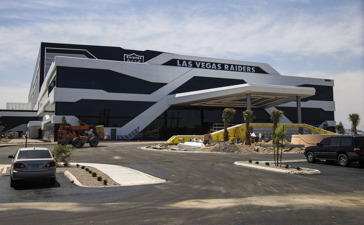 Construction continues at the Las Vegas Raiders team headquarters in Henderson on Friday, June ...