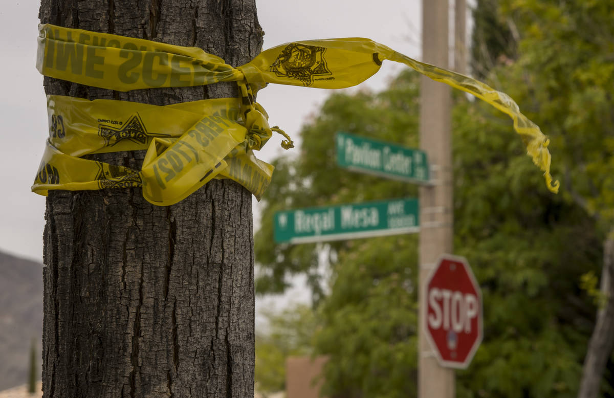 Police tape hangs near where two teen brothers were killed in a recent motorcycle accident at P ...