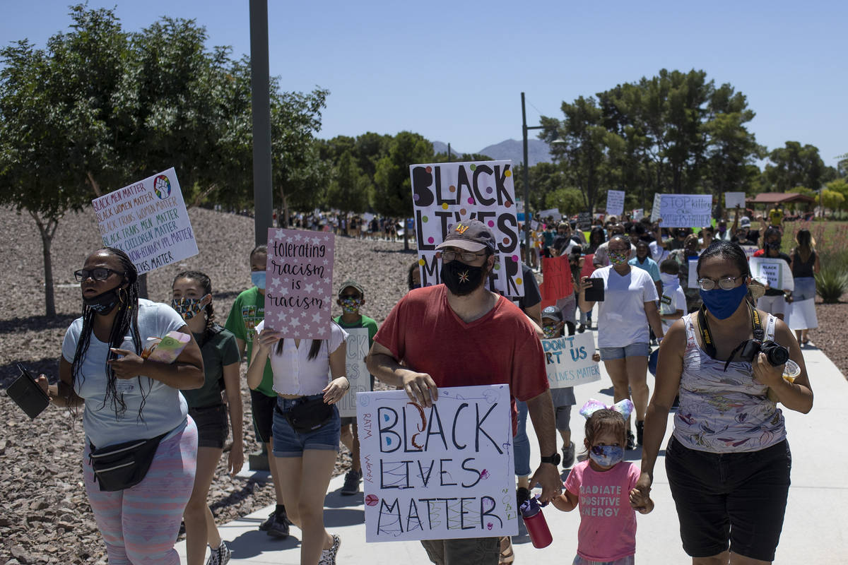 """The """"Kids Against Racism Rally"""" marches through Craig Ranch Regional Park on Sunday, ..."""