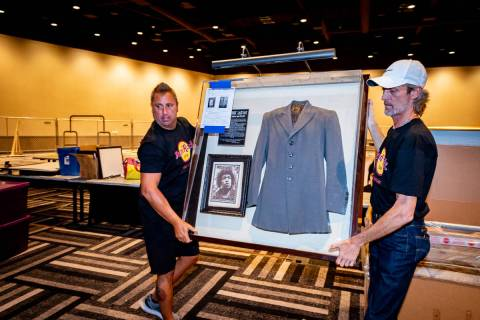 The jacket Jimi Hendrix wore on the last day of his life is among the items taken out of the Ha ...