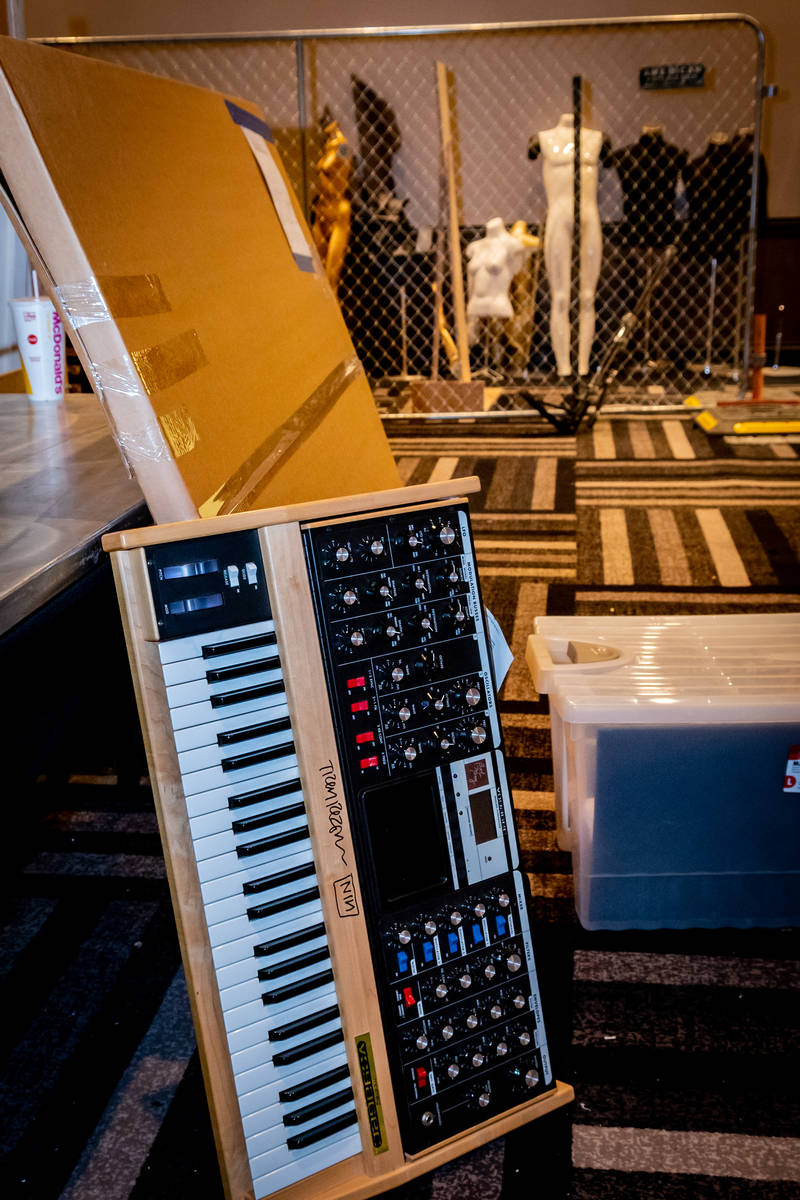 A synthesizer autographed by Trent Reznor of Nine Inch Nails is among the items taken out of th ...