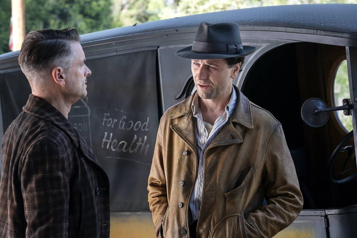 "Shea Whigham, left, and Matthew Rhys in ""Perry Mason"" (Merrick Morton/HBO)"