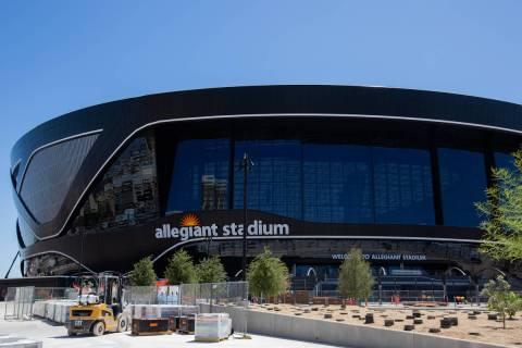 Allegiant Stadium is seen in Las Vegas on Tuesday, June 16, 2020. (Chris Day/Las Vegas Review-J ...