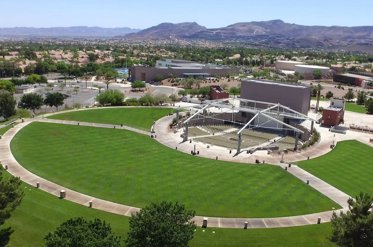 The Henderson Pavilion photographed on Friday, May. 15, 2020, in Henderson. A minor league hock ...