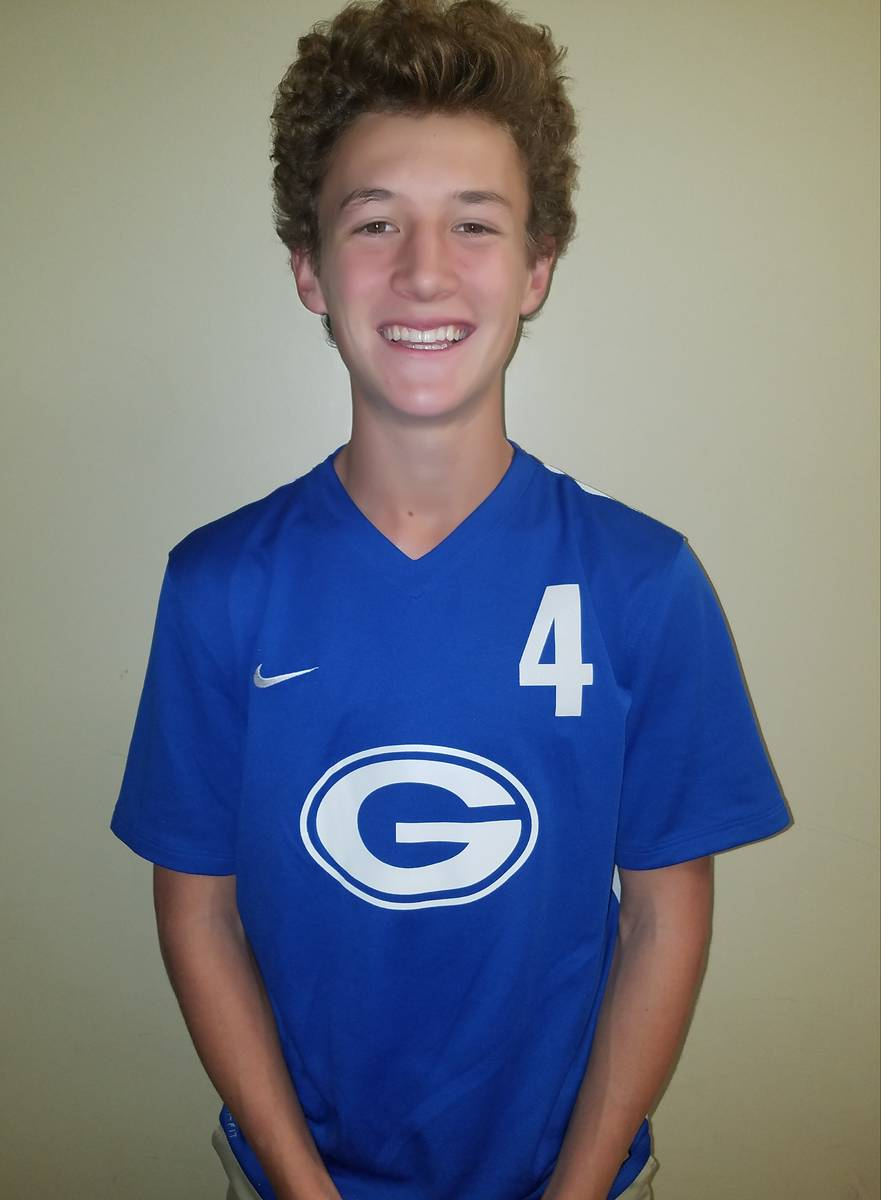 Bishop Gorman's Caden Buckley is a member of the Las Vegas Review-Journal's all-state boys socc ...