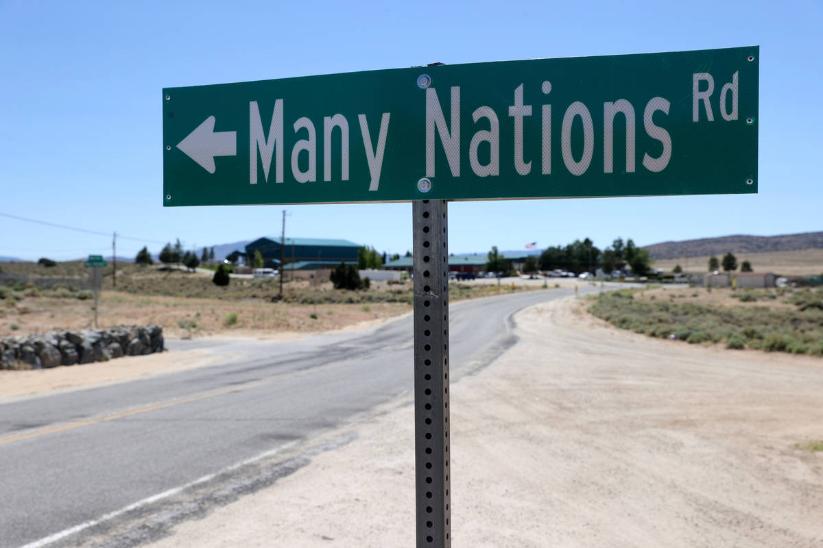 Reno-Sparks Indian Colony's Hungry Valley Reservation Wednesday, June 17, 2020. (K.M. Cannon/La ...