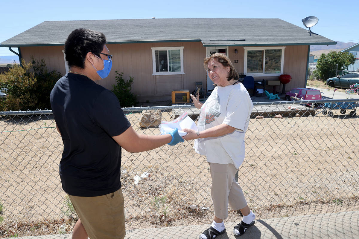 Darren Mauwee, 14, a member of Reno-Sparks Indian Colony's United National Indian Tribal Youth ...